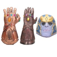 Infinity wars The Avengers Thanos Infinity Gauntlet Gloves Prop Latex Avengers Infinity War Mask Gloves Action Figure Toy