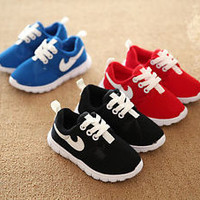 Hot Baby Kids Mesh Canvas Sports Shoes Boy Sneakers Lace Up Toddlers Girl Casual