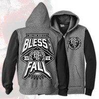 Hollow Bodies Black/Grey Zip-Up : blessthefall