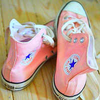 """""""Converse"""" Fashion High tops Wine red Canvas Flats Sneakers Sport Shoes Pink"""