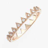 kismet by milka 'Lumiere' Diamond Crown Ring