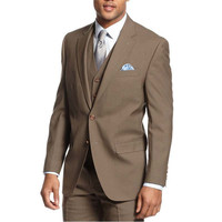 Solid Vested Suit