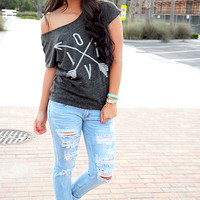 Going Different Directions Top: Dark Gray