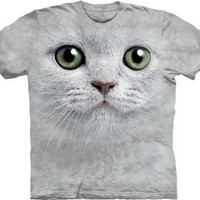 Chick&Stylish - Green Eyes Cat Face The Mountain Tee Shirt Adult S-XXXL