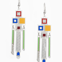 Frank Lloyd Wright Saguaro Forms Color Earrings
