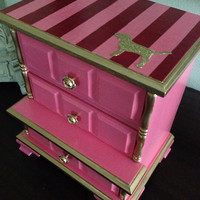 Antique Musical Jewelry Box Hand Painted In by ColorfulHomeDesigns