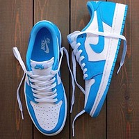 Air Jordan 1 Low X Dunk SB AJ1 Women Men Casual Classic Sport Shoes Sneakers Blue&White