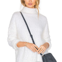 MINKPINK Snuggle Skivvy Sweater in Cream | REVOLVE