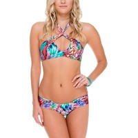 Luli Fama Gorgeous Chaos Twisted Bandeau Top