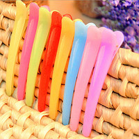 10pcs Pro Womens Barrette Girls Hair Clips Hairpins Girls Barrette Baby Hair Accessories Barber Clip Mixed Color Hair Styling