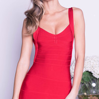 MARCY BANDAGE DRESS IN RED -5 COLORS