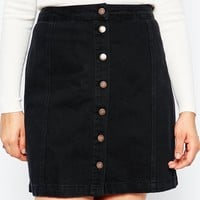 New Look Inspire Button Up Skirt at asos.com