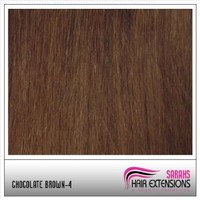 22 inch Remy Human Hair Weft. Chocolate Brown #4