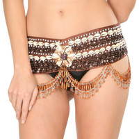 Orange Cowry Star Tribal Belt