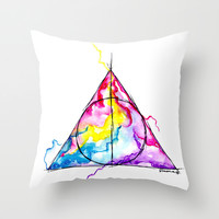 harry potter Throw Pillow by Simona Borstnar