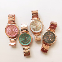 Pretty Color Face  Metal Watches #W69