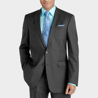 Kenneth Cole Charcoal Gray Slim Fit Suit   Men's Wearhouse