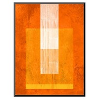 Art.com Orange Paper 2 - Mounted Print