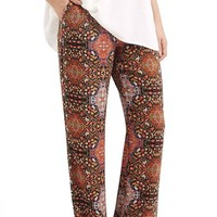 Women's Topshop Floral Slouchy Trousers,