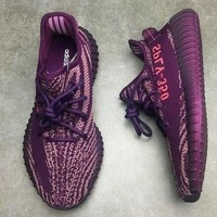 Adidas Yeezy 550 Boost 350 V2 Fashion Women Men Casual Sport Running Shoe Sneakers Purple I