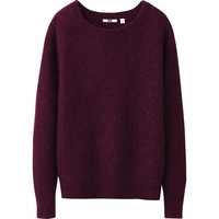WOMEN MOHAIR BLENDED SWEATER   UNIQLO