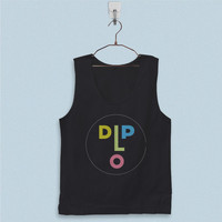 Men's Basic Tank Top - Dj Diplo Logo