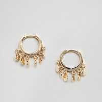 Shashi Sterling Silver 14K Gold Plated Ashley Huggie Hoop Earrings at asos.com