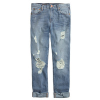 J.Crew Womens Broken-In Boyfriend Jean In Ludington Wash