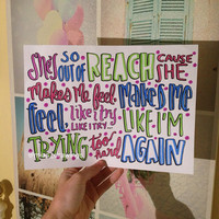 Try Hard 5 Seconds of Summer lyric art by Miasdrawings on Etsy