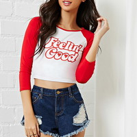 Feelin Good Graphic Crop Top