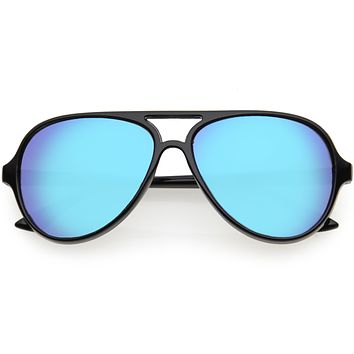 Kids Mirrored Lens Oversize Aviator Sunglasses D185