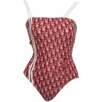 DIOR New fashion strap stripe red more letter one piece bikini swimsuit red