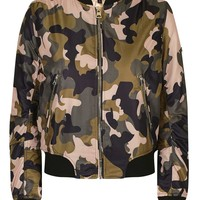 Pink Camo MA1 Bomber Jacket - Topshop