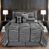 The CoCo Ruched 7PC Comforter Bedding Set