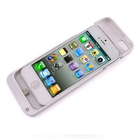 White 2200mAh Backup External Battery Charging Case Cover Charger For iPhone 5C