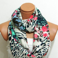 Infinity Scarf,nomad scarf,,Loop Scarf,Circle Scarf, Multi-color cotton fabric Scarf,Cowl Scarf, Eternity Scarf