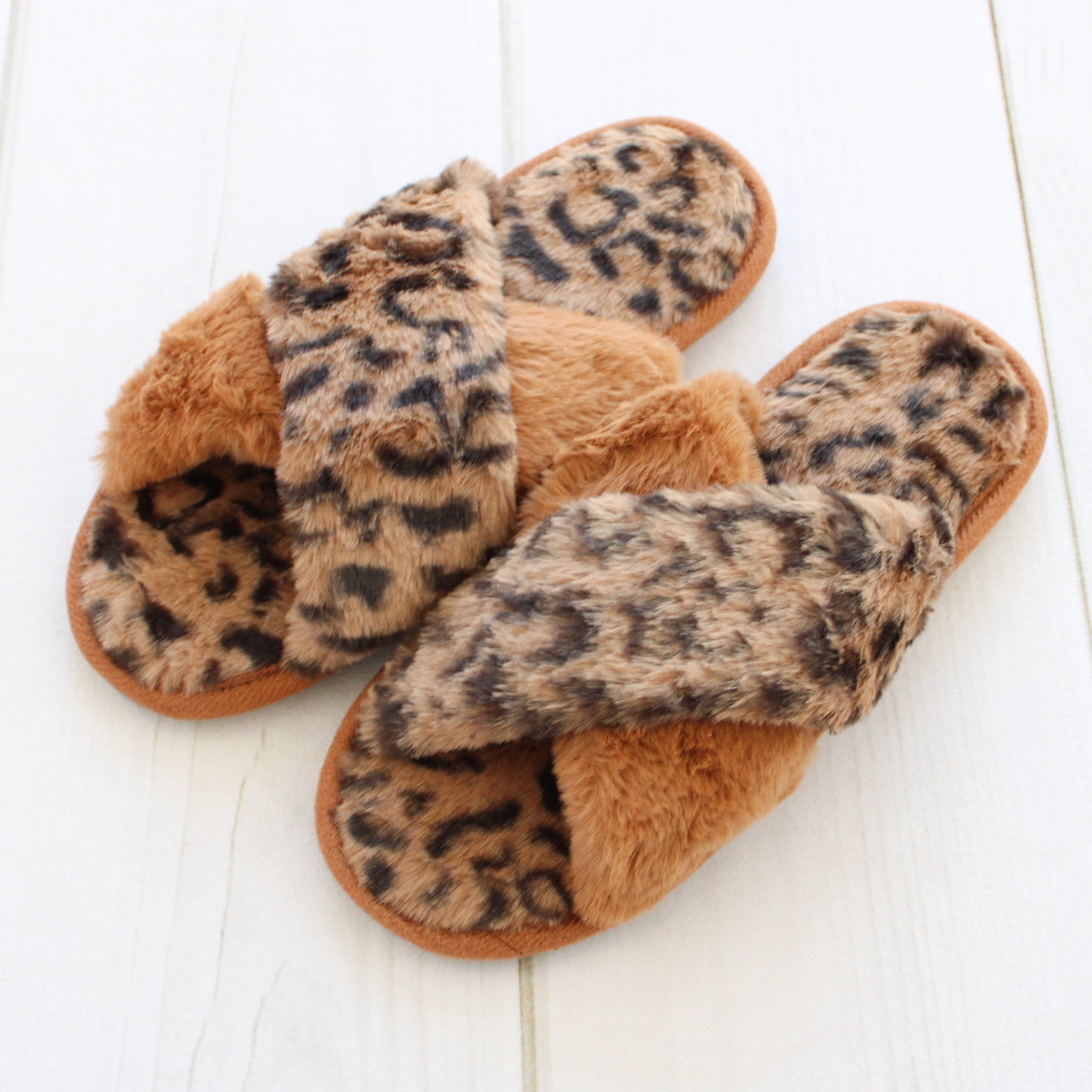 Image of Womens Leopard Slippers