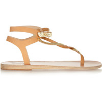 Ancient Greek Sandals - Ismene metallic leather sandals