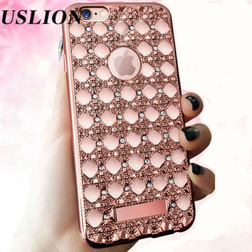 For Apple iPhone 7 6 6s Plus 5s SE Phone Case Luxury Diamond Glitter Bling Soft TPU Cover Case Capa Coque For iPhone 7 Plus