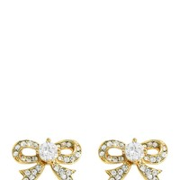 Gold Pave Bow Stud Earring by Juicy Couture, O/S