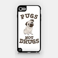 for iPod Touch Gen 5 - Pugs Not Drugs - Pug Lover - Dog Lover - Cute Pug