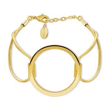 Gold-Tone Open Circle Link BraceletBe the first to write a reviewSKU# b279-02