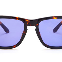 RILEY - TORTOISE FRAME - PURPLE COLOR THERAPY LENS