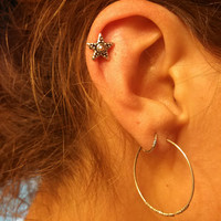 Tribal Star Cartliage Earring Tragus Helix Piercing