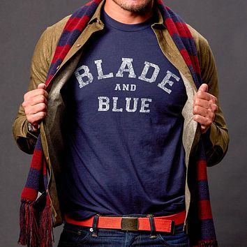 Navy Blue Blade + Blue Tee Size S Available