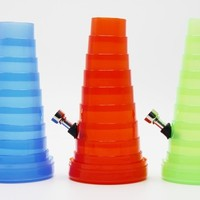 collapsibl  WATER PIPE PLASTIC HOOKAH SHISHA SMOKING PIPE SMOKING ACCESSORIES OIL RIG