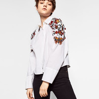 FLORAL EMBROIDERED SHIRTDETAILS