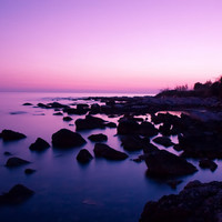 """Sunset Canvas Print Art Photo Painting HUGE Beach Nature Picture LARGE Ready to Hang 30"""" x 20"""""""