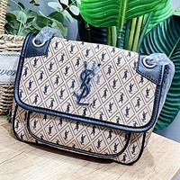 YSL New fashion more letter leather chain shoulder bag women