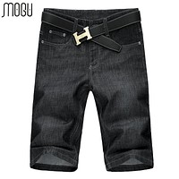 SHORTS Knee Length Shorts Men Fashion Mid Waist Short Jeans For Men Summer Denim Men's Shorts